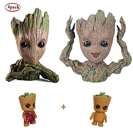Baby Groot Maceta Pen Pot,Familia Oficina Decoración Plantas ...