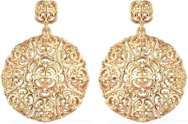 18K Yellow Gold Filled 1.2/'/' Hollow Teardrop Peridot Topaz Gems Women Earrings