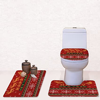 Groovy For U Designs Red Mats Xmas Fashion Bathmat Soft Toilet Seat Covers Carpet Machost Co Dining Chair Design Ideas Machostcouk