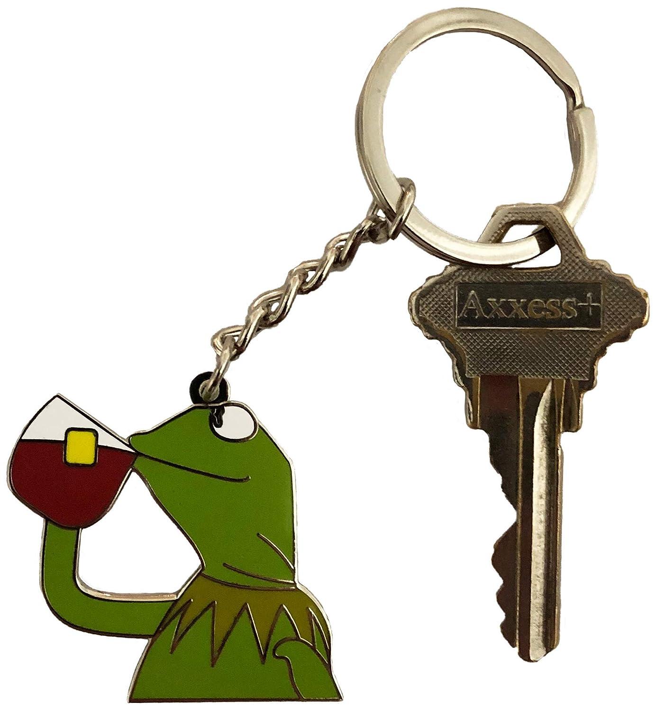 Amazon.com: Pin para gorro de té, diseño de Kermit con texto ...