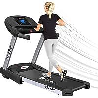 PowerMax Fitness Unisex Adult TD-M1 Urbantrek (2.0 Hp) Plug And Run Treadmill With Android & Ios App - Black/Grey, Modern-Compact