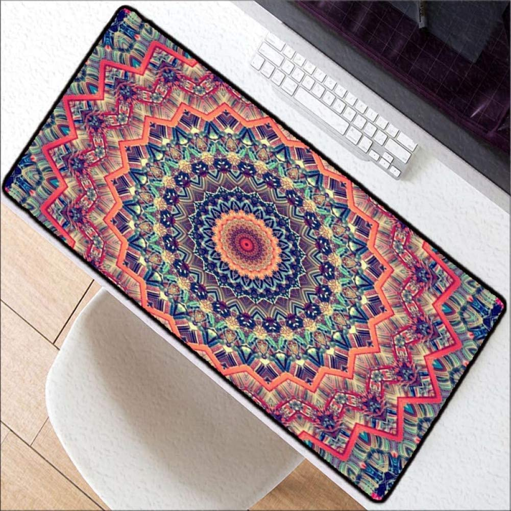 WHFDSBD600X300 900X400Mm Large Gaming Flower Mousepad Black Mouse Pad Lock Edge Laptop Pc Game