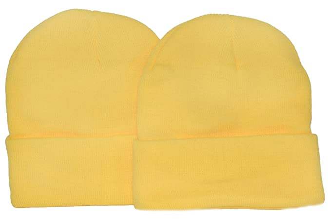 Amazon.com  Great Deals! 2 Pack Knit Beanies   Yellow   Minion ... 77a589d981c