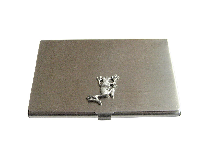 Silver Toned Frogビジネスカードホルダー   B01H1LP4TM