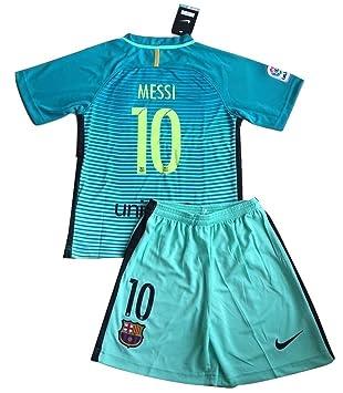 f25de7bdc 2016 2017 Messi  10 FC Barcelona New Champions League Third Jersey   Shorts  for