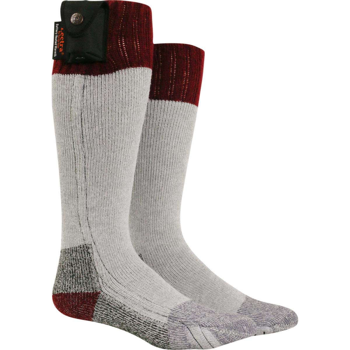 Nordic Gear Unisex Lectra Sox-Electric Battery Heated Socks - X-Small/Small - Maroon by Turtle Fur