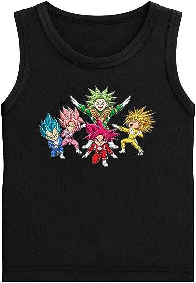 Camiseta de Tirantes Niños Negra Parodia de Dragon Ball Super ...