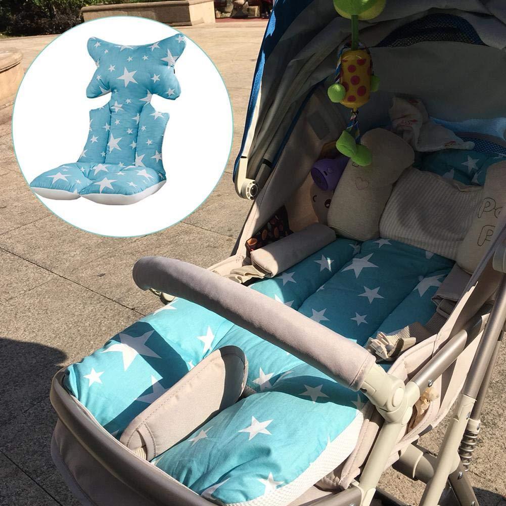 Dough.Q Baby Sitzauflage Kinderwagen Kissen Stern Fu/ß warme Dicke Baumwolle verdickte atmungsaktives 3D Luft-Netz Universal f/ür Babyschale Autokindersitz Kinderwagen Buggy Auto Kissen 37/×80cm