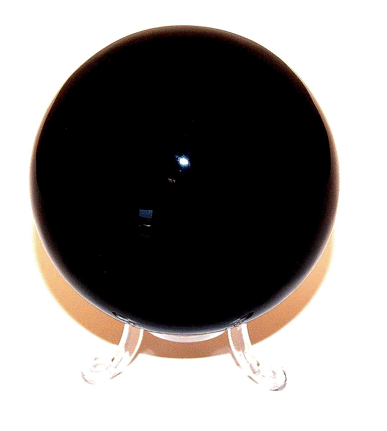 Large Black Obsidian Sphere 80mm with Stand