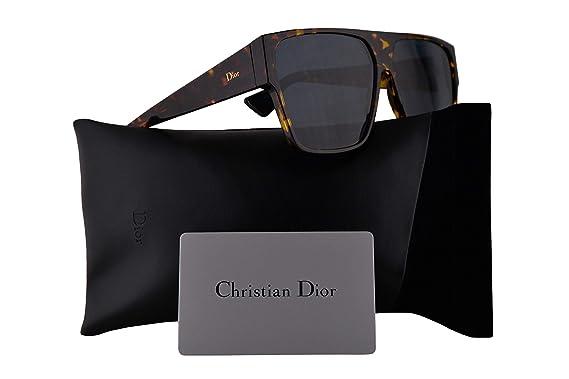 21e5123be3bcc8 Christian Dior Diorhit Lunettes de soleil Marron Jaune Havane W dégradé de  Bleu Miroir Doré
