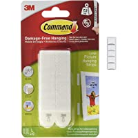 Command 17206 Grote Foto Opknoping Strips, 4 Paren, Wit met Scotch montage Putty