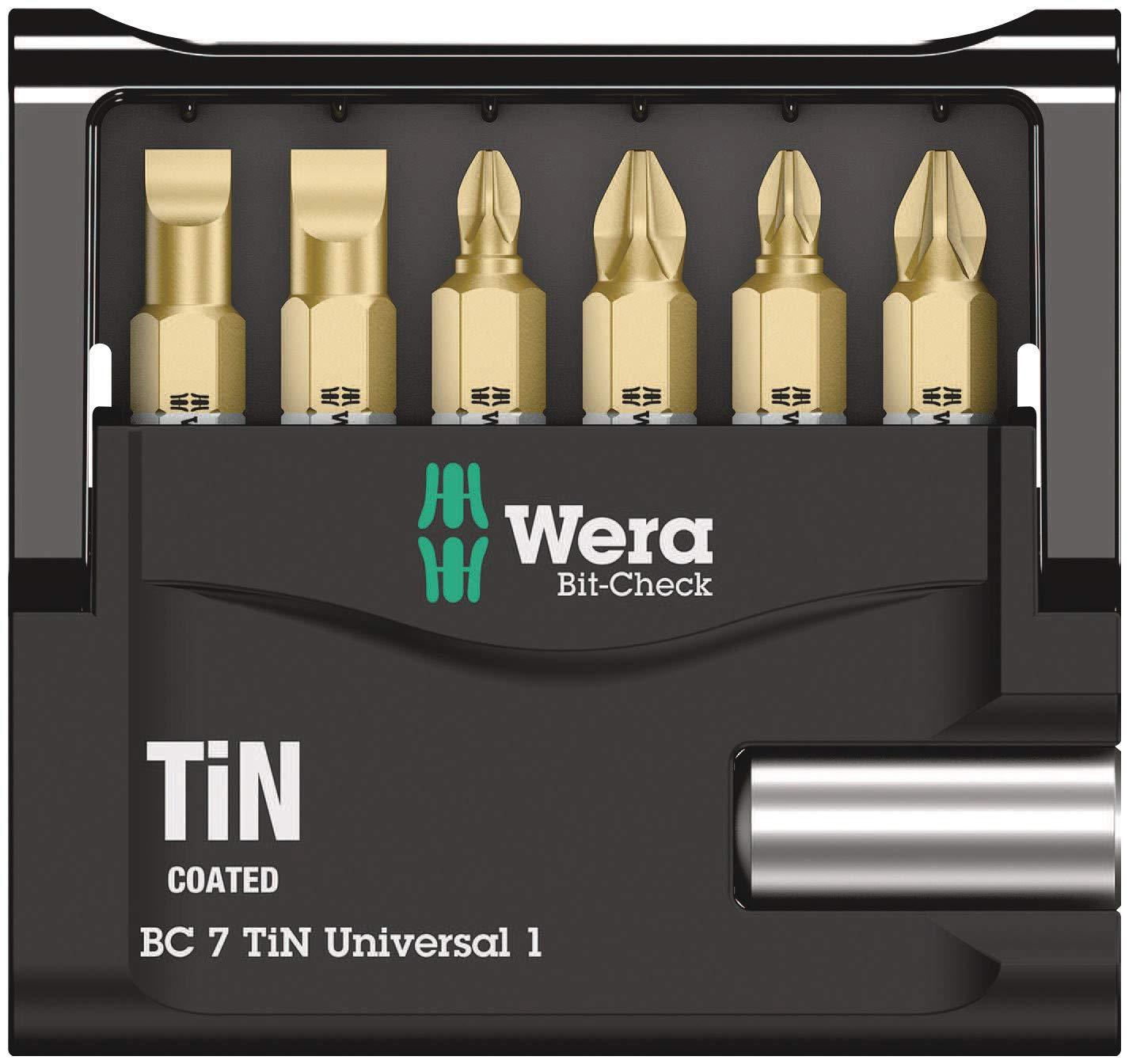 Wera Set de puntas industriales Mini-Check TiN SB de 7 Pz.