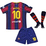 MGGALY Messi #10 Barcelona Home 2019/2020 Season Kids Youth Sport T-Shirts & Shorts & Socks