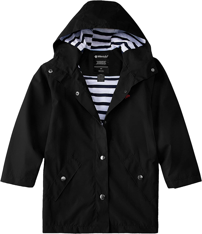 Fresno Mall Wantdo Boys and Girls Waterproof Ho Rain Jacket Mail order cheap Long Lightweight