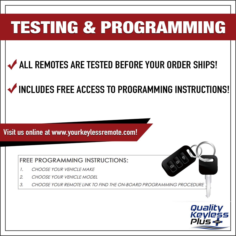 qualitykeylessplus 2 4 Button Car Replacement Remote for FCC ID L2C0007T Key Fob Free KEYTAG