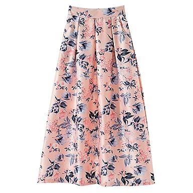 Severkill faldas clásicas para mujer, falda floral elegante, falda ...