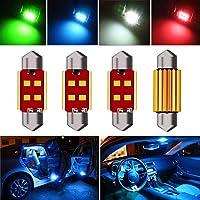 Autopon 31mm Festoon Bulb, Car Interior LED Lights, DE3175 LED Bulb, 4PCS Super Bright 3175 DE3022 6428 LED Bulb Canbus…