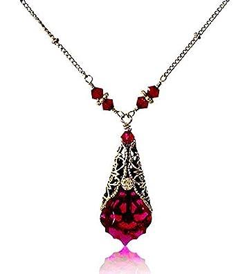 3461b3417e14c Amazon.com: HisJewelsCreations Baroque Crystal Filigree Pendant ...