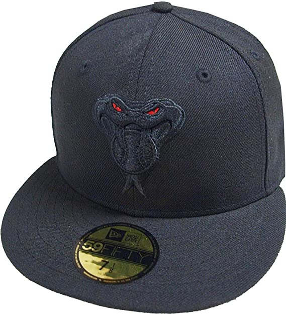 A NEW ERA Arizona Diamondbacks Black On Black Cooperstown MLB Cap 59fifty  5950 Fitted Basecap Kappe Men Special Limited Edition  Amazon.es  Ropa y ... bb2fe752daa