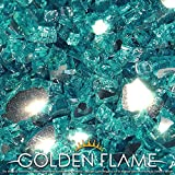 Golden Flame 10-Pound Fire Glass 1/2-Inch Caribbean Reflective