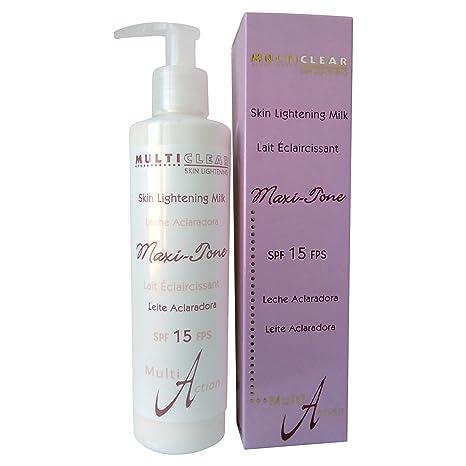 Leche Aclaradora Maxi-Tone MULTICLEAR - 250ML. Con Aloe Vera, Vitamina A y