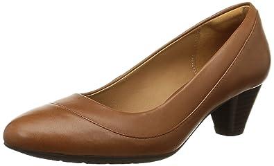 Clarks Denny Harbour, Damen Pumps, Braun (Tan Leather), 37.5 EU
