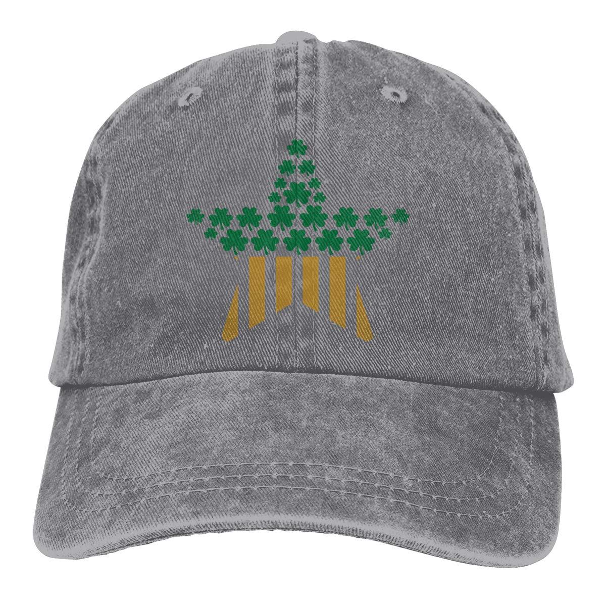 Irish American Flag Unisex Trendy Cowboy Sun Hat Adjustable Baseball Cap