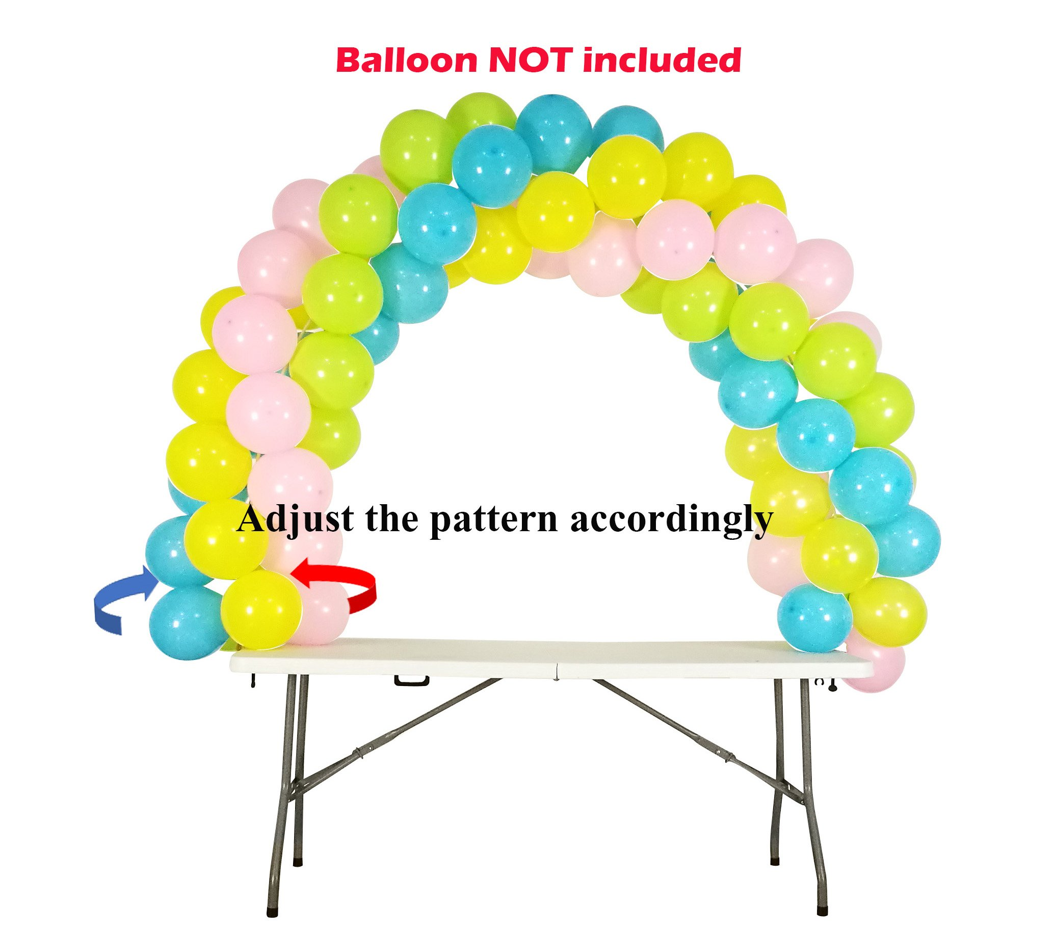 Balloon Arch Kit Adjustable for Different Table Sizes Birthday, Wedding, Christmas, and Graduation Party by Party Zealot (Image #9)