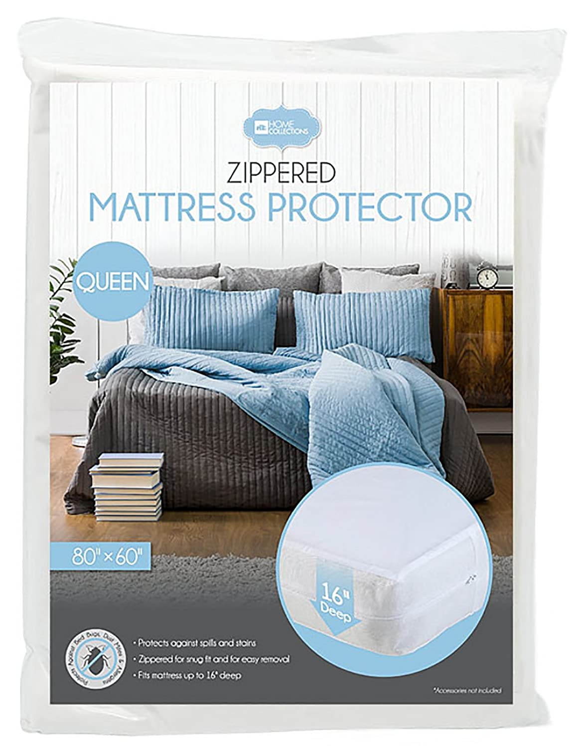amazon com home collections bd 5216 mattress protectors water proof