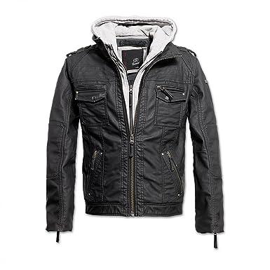 Brandit Black Rock Vintage Veste en cuir pour homme: Amazon.fr: Vêtements  et accessoires