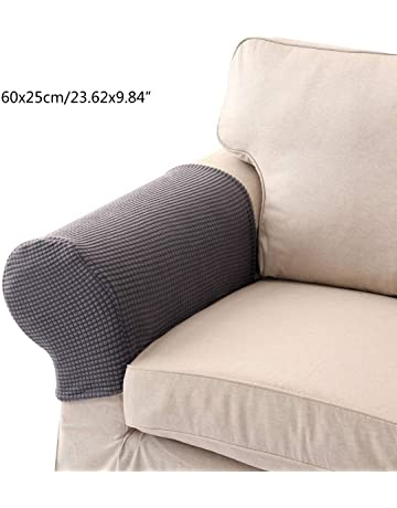 UMIWE Set of 2 Stretch Armrest Covers Spandex Polyester Arm Caps for Armchairs  Sofa Chair Couch 060bc62faa