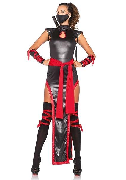 Leg Avenue- Mujer, Color Negro y Rojo, Medium (EUR 38-40 ...