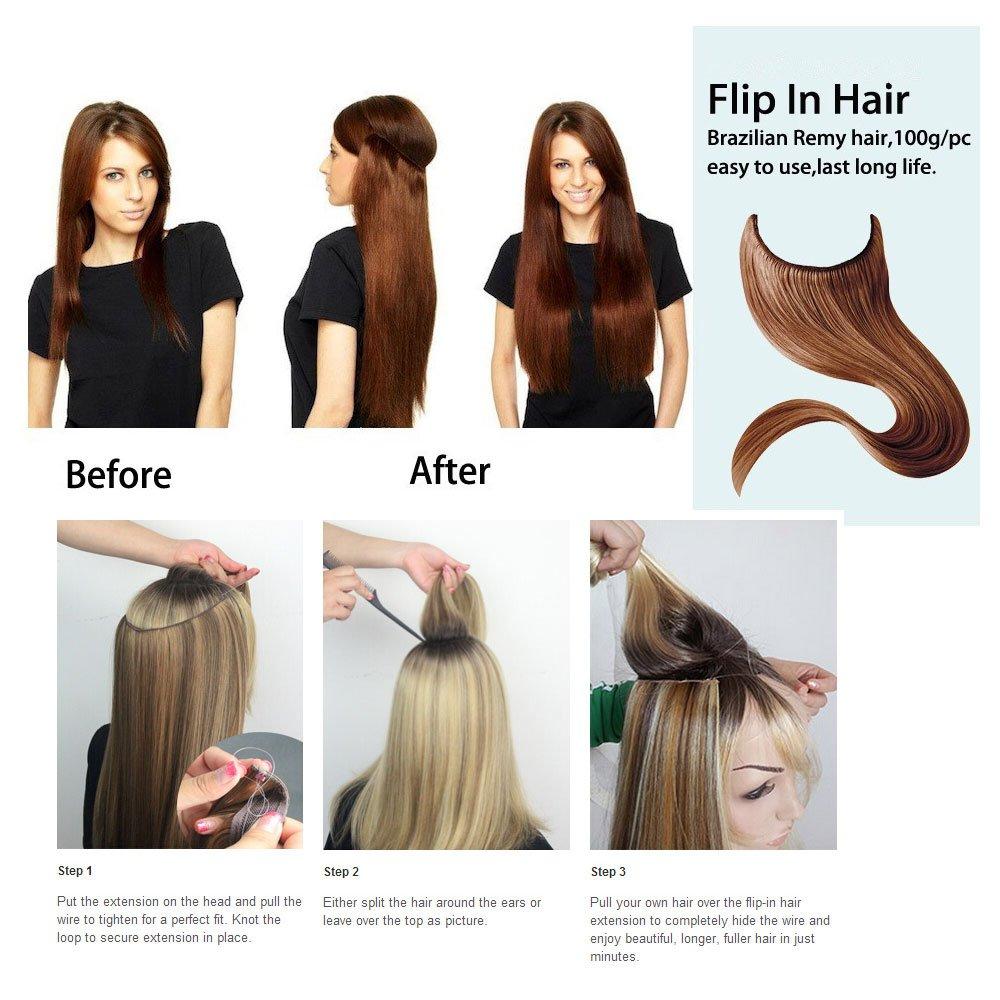 Amazon Joyme Flip In Human Hair Extensions 1pcs Brazilian