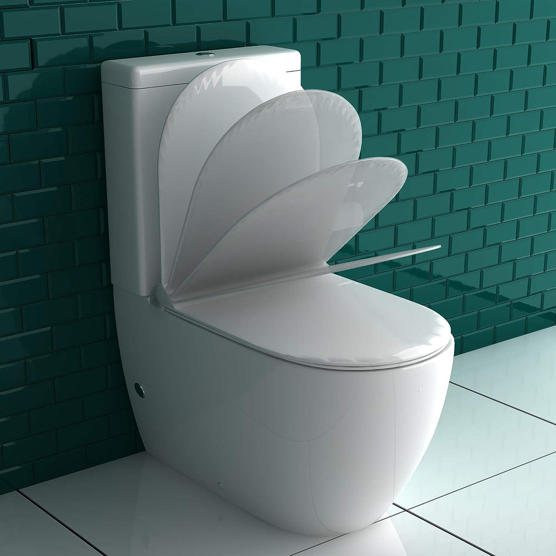 Diseño cerámica inodoro (con taharet/bidé inodoro con cisterna Geberit 240.622.00.1 – Válvula de ducha Asiento de inodoro Incluye Duroplast con Soft Close 2 en 1 WC: Amazon.es: Bricolaje y herramientas