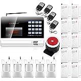 KERUI N6120G Wireless GSM Home security Alarm System + 10PCS Wireless Door sensor + 5PCS Wireless PIR Motion Infrared Detector