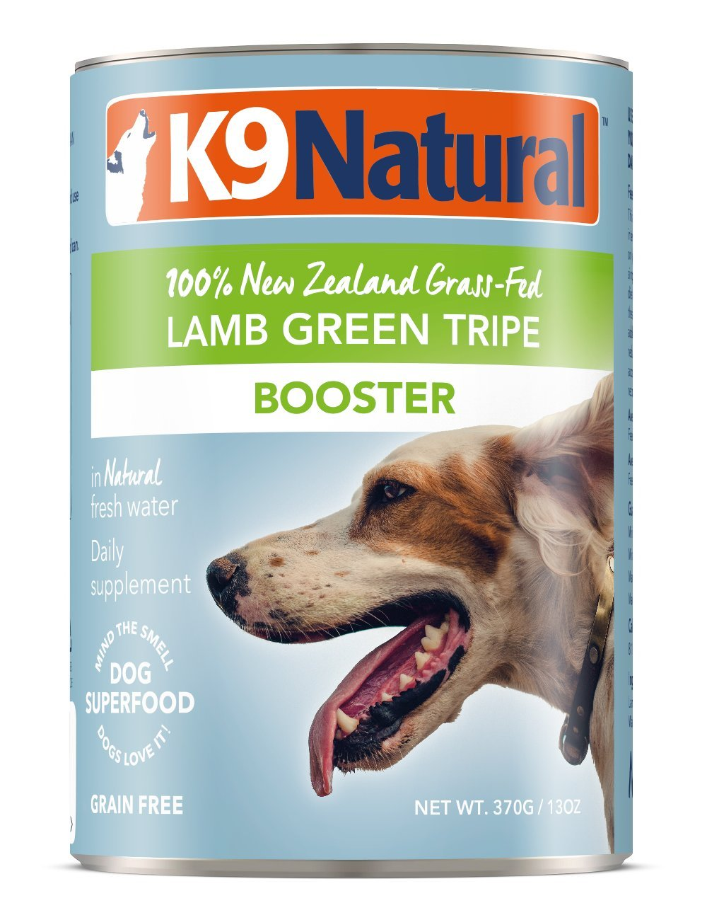 K9 Natural BPA-Free & Gelatin-Free Canned Dog Food Supplement Booster, Lamb Green Tripe 13oz 12 Pack by K9 Natural