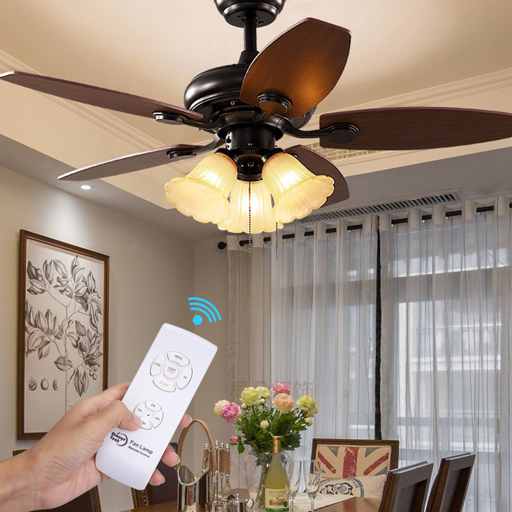 Orange Tech Rf Ceiling Fan Lamp Remote Controller Universal Kit Wall And Switch Wiring Diagram Wireless Control With Timing Setting For Home Office Hotel Club Display Hall Restaurant