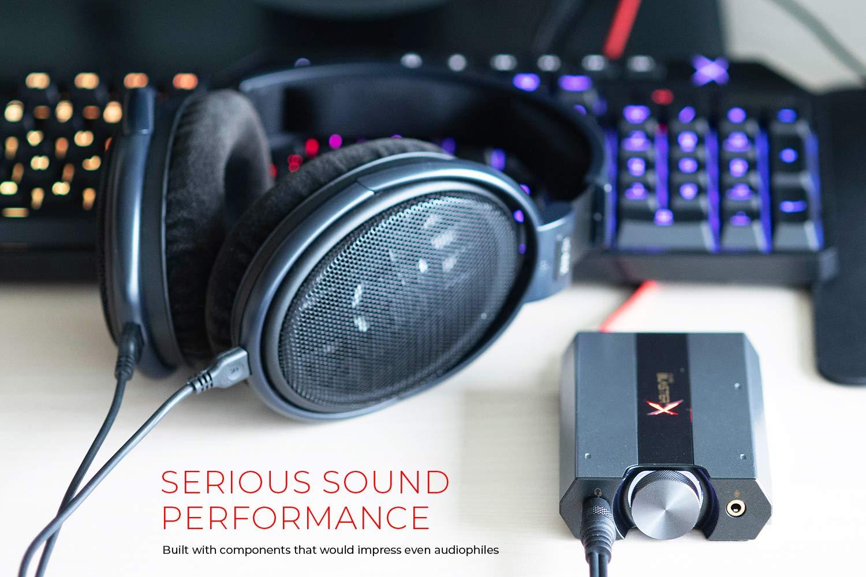 Sound BlasterX G6 Hi-Res 130dB 32bit/384kHz Gaming DAC, External USB Sound  Card with Xamp Headphone Amp, Dolby Digital, 7 1 Virtual Surround Sound,