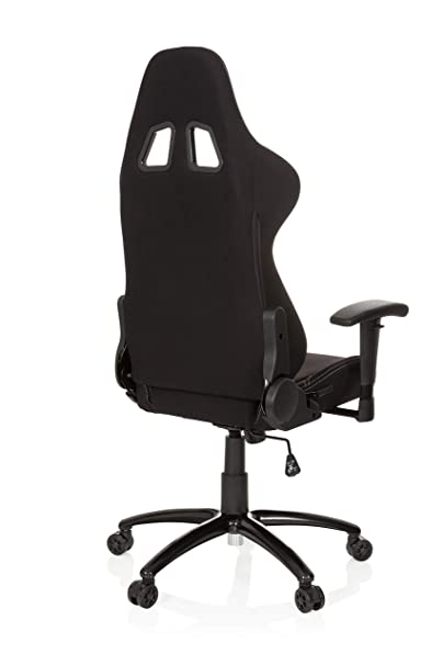 hjh OFFICE 729300 silla gaming GAME FORCE tejido negro silla de oficina reclinable silla escritorio: Amazon.es: Hogar