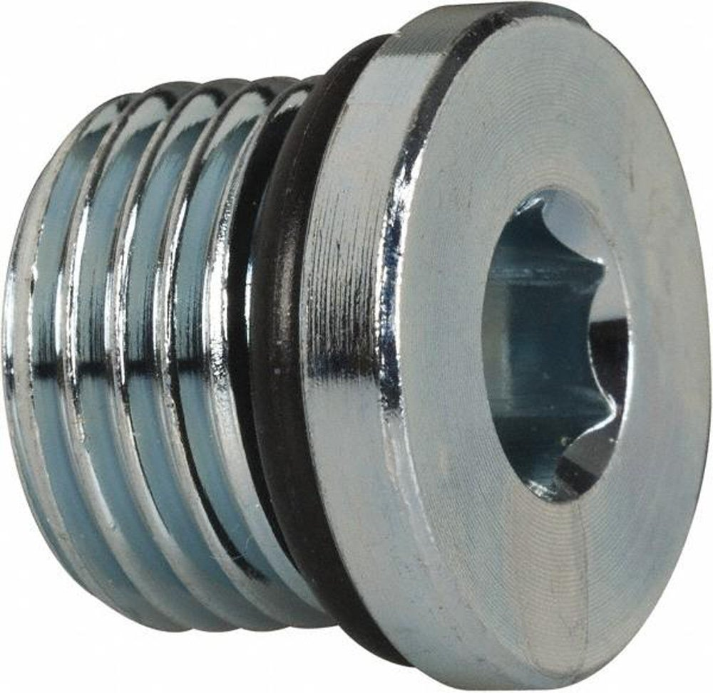 Parker 6 HP5ON-S SAE Hollow Hex Head Pipe Plug 9//16-18 ORB Male Steel