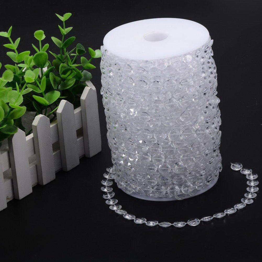 Rideau de perles de cristal Garland Diamant Strand DIY D/écorations de mariage de mariage Bouquet D/écoration 10meters -33ft 1/rouleau