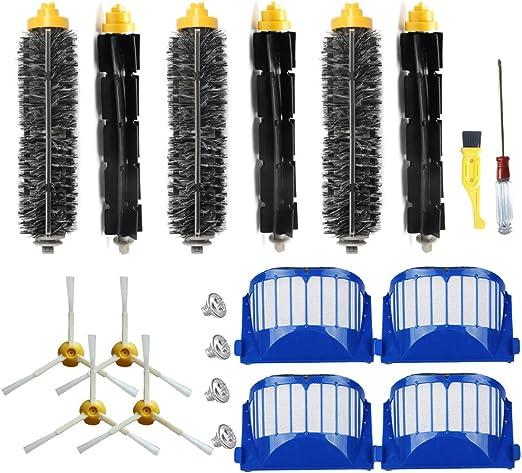 Side Brush Filter Kit For IRobot Roomba 585 595 620 630 650 655 Vacuum Cleaner