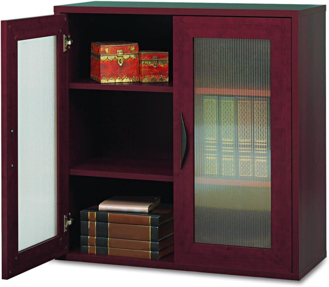 Safco Products Apres Modular Storage Cabinet, 2 Door, Mahogany