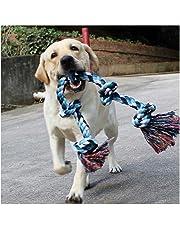 Jouets à corde pour chiens grands et forts, jouets à mâcher 5 poignées de corde pour mâcher agressifs, jouets pour mâcher des cordes interactives pour chiens de grande taille