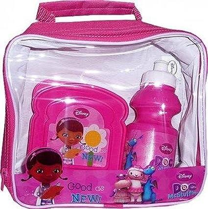 cb28ae848d1b Girls Kids Hello Kitty Princess Monster High Lunch Bag Kit Set With Water  Bottle & Sandwich Box (Doc McStuffins Lunch box Set)