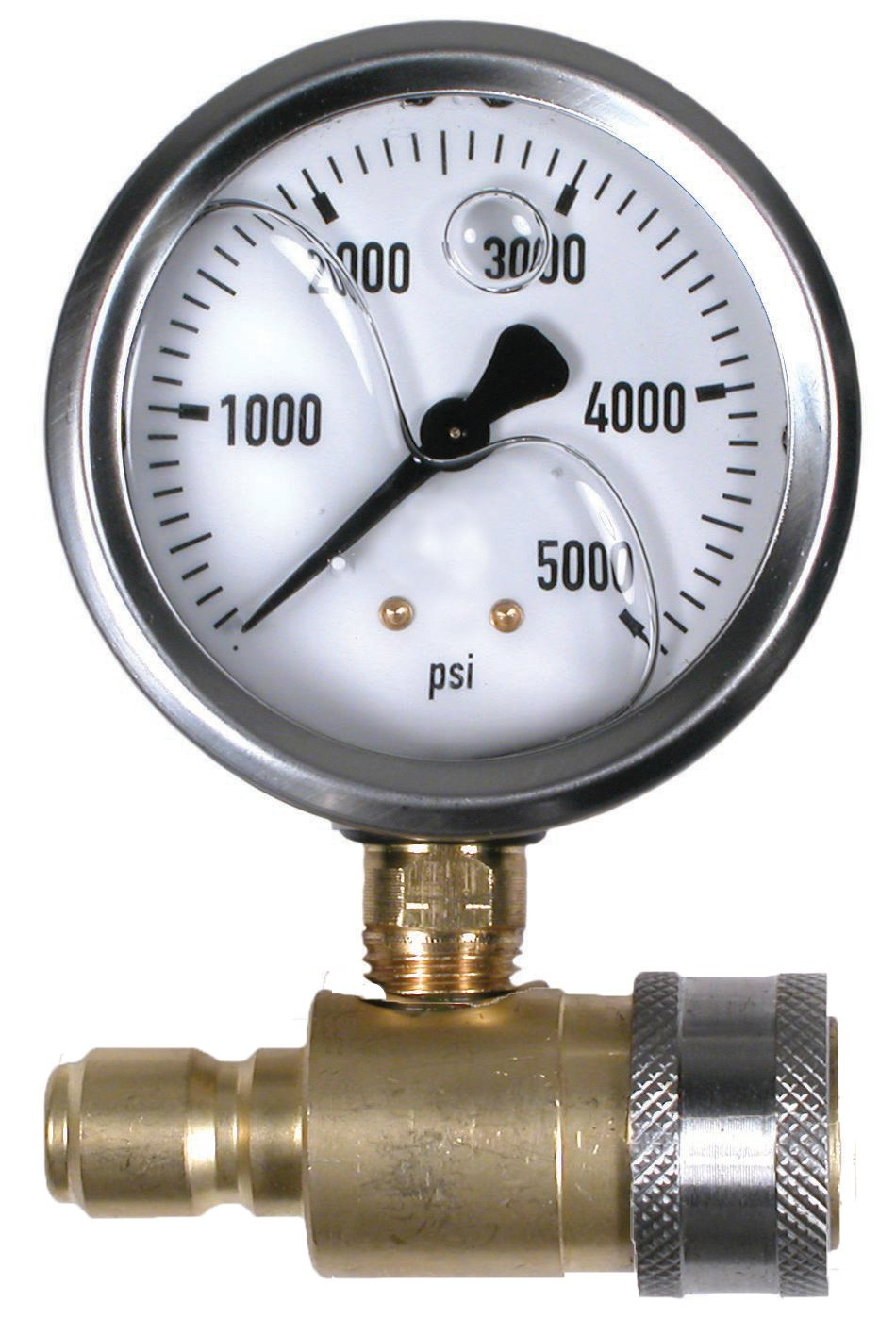 5000 PSI 2-1/2'' Quick Connect Cold Water Test Gauge Assembly by Valley Industries