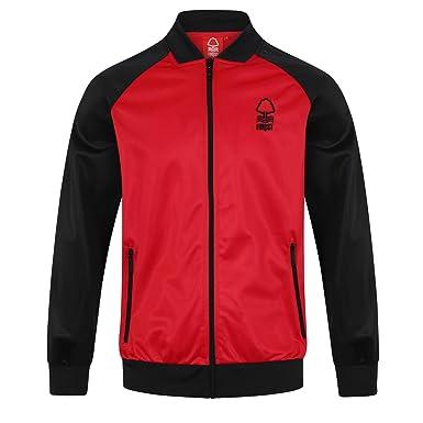 f6aee0bbcca36 Nottingham Forest FC Officiel - Veste de survêtement thème Football - Style  rétro - Homme -