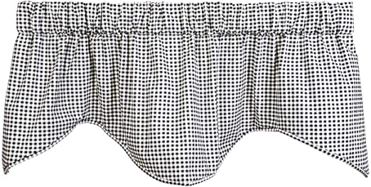 Amazon Com Valances For Windows Valance Curtains Farmhouse Kitchen Curtains Valances Or Valances For Living Room Black Checkered Country Rustic Decor Kitchen Dining
