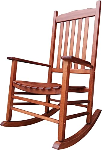 Rocking Rocker – A001NT Natural Wood Porch Rocker Rocking Chair – Easy to Assemble – Comfortable Size – Outdoor or Indoor Use