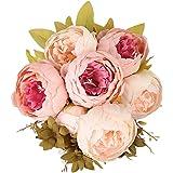 Houda Vintage Peonia artificiali fiori di seta Bouquet Home Hotel Wedding Decoration Champagne